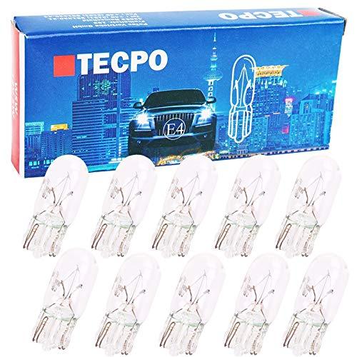 10x Glassockel Glühbirnen W5W Standlicht Kennzeichenlich Autolampe T10 12V 5W