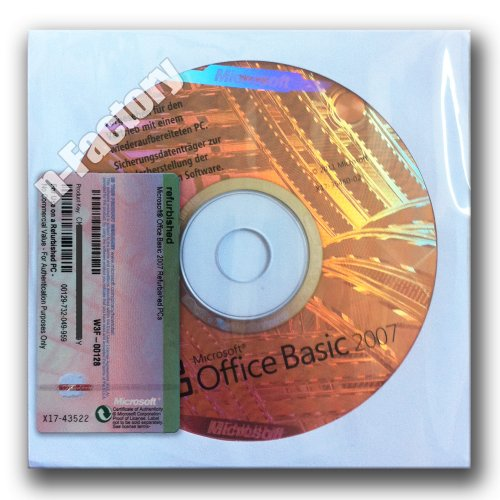 Microsoft Office 2007 Basic OEM deutsch