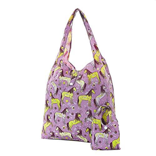 Eco Chic Einkaufstasche, wiederverwendbar, faltbar, Unicorn Purple, Einheitsgröße