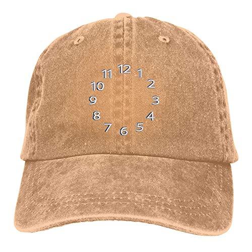 Bikofhd Clock Number Unisex Cowboy Hat Baseball Caps Vintage Adjustable Sports Golf Cap Style9825