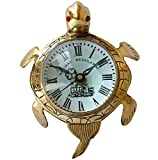 Brass Turtle Marine Wall Clock With Vintage Design