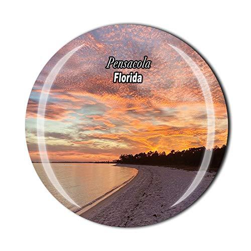 Imán de cristal 3D para nevera, diseño de Florida, Estados Unidos, de Pensacola
