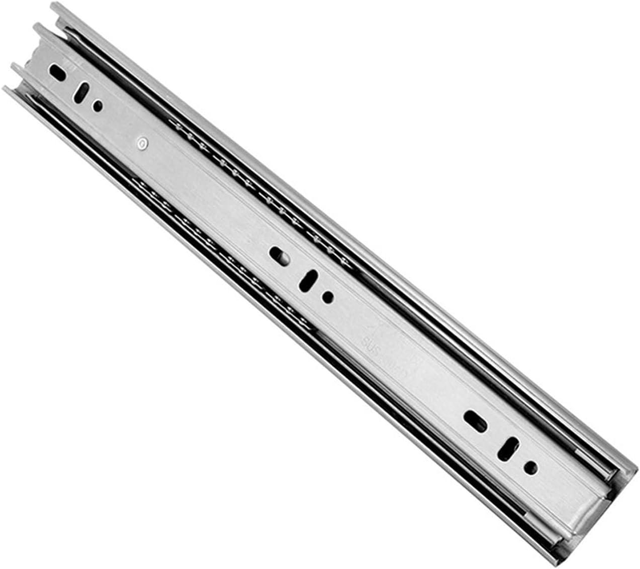 LQHZ Drawer Slide Stainless Rails NEW Popular brand in the world Three-Se Thickened Steel
