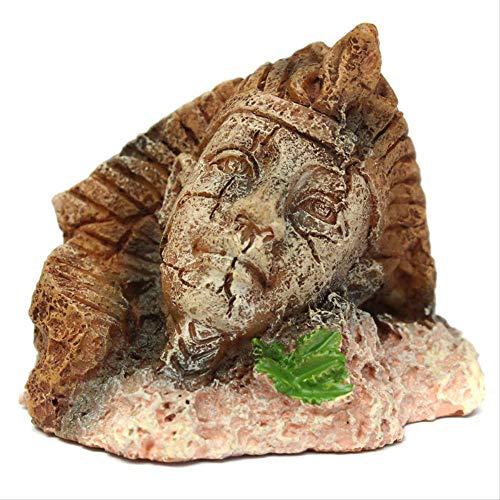 YGZS Aquarium Dekoration Ornamente ägyptischen Pharao dekorative Harz Landschaftsbau 6 * 5 * 5cm Gewicht: 86g