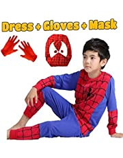 Fancy Steps Complete Spiderman Costume + Gloves + Mask Superhero Costume