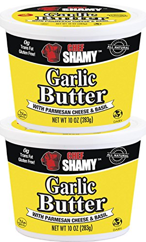 Chef Shamy Garlic Butter, Parmesan Basil, 10 Ounce (Pack of 2)