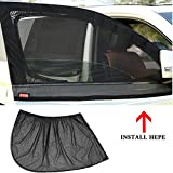 NACHEN Auto Moskitonetze Verdunkelung Anti-Mücke Vorhänge Car Mesh Sonnencreme Garn Tasche,Black,50 * 40 * 40Cm