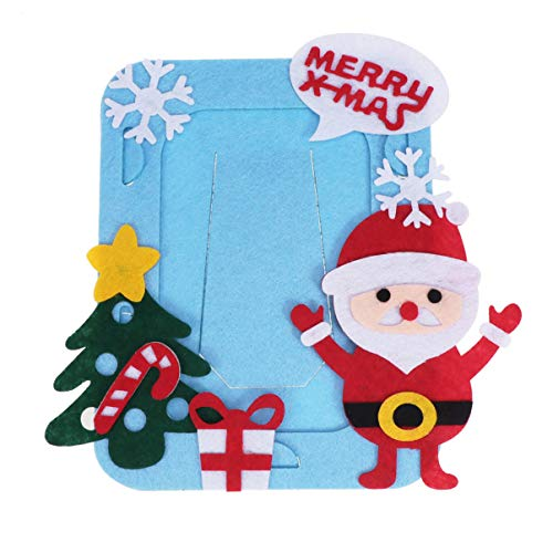 Heallily Navidad niño artesanía Fieltro Kit Navidad Marco Santa Claus niños Marco de Fotos para decoración...