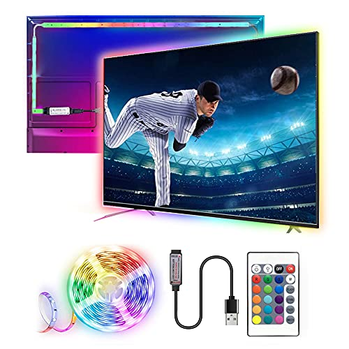 Tira LED TV 3M,SHENXI 5050 Tiras LED USB con Control Remoto,Retroiluminacion LED de TV para Cine en Casa,16 RGB Colores y 21 Modos, HDTV/PC Monitor (40-60 Pulgada), una vida útil de 60000 Horas