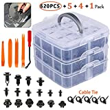 Saab 9-4X Air Intake Parts - Eleven Guns 620 Pcs Car Retainer Clips, Plastic Fasteners Kit Fender Rivets Kits 16 Most Popular Sizes Auto Push Pin for GM Ford Toyota Honda Acura Chrysler