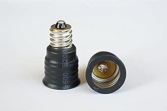 E12 Candle Candelabra Base Screw Socket to Intermediate E17 Fan Light Screw Adapter Converter (12pcs/Pack)
