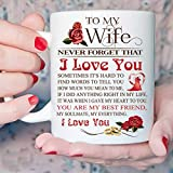 Dulce para mi esposa Te amo Cita Taza de café Taza de té Regalo elegante para esposa Esposa romántica Aniversario Regalo de cumpleaños de San Valentín