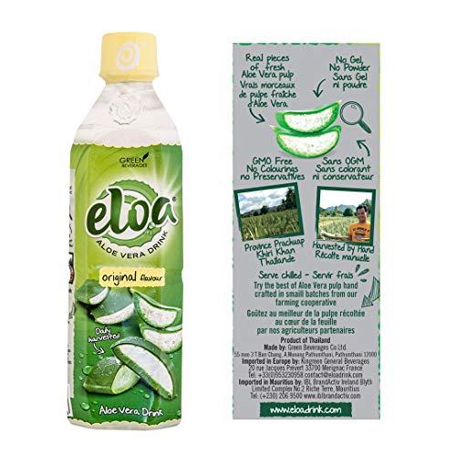 ELOA - Conventional Aloe Vera Drink - Boisson à l'Aloe Vera - Original Flavour - Saveur Originale (12 bottle case - carton de 12 bouteilles)