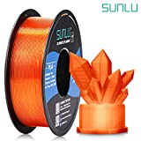 🎄【SUNLU PLA Transparent Filament】 Awesome light transmission, came out beautiful no matter thick shell or thin shell, if you want some beautiful transparent pla 1.75mm filament choose this, you will like it. 🎅【Smooth & Shiny Printing】 Optimalprintin...