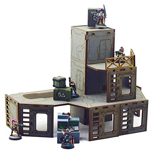 War World Gaming Industry of War Torre de Ascensor Multinivel - Sin Pintar – 28mm Escala Wargaming Terreno Juego Guerra Wargame Elevadora Elevar Miniatura Tablero Seguimiento Envío