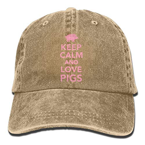 remmber me Keep Calm and Love Pigs Gorro de Mezclilla Ajustable Mini Gorras de béisbol Masculinas