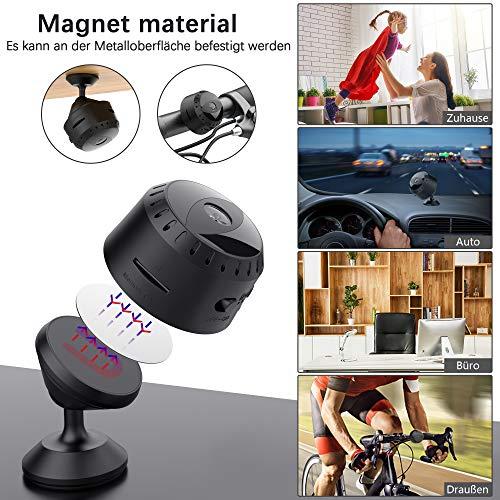 Mini Kamera WiFi, Tesecu FHD 1080P Kleine Überwachungskamera, Mini Cam mit Bewegungserkennung und Infrarot Nachtsicht, Sicherheit Kamera für Innen und Aussen