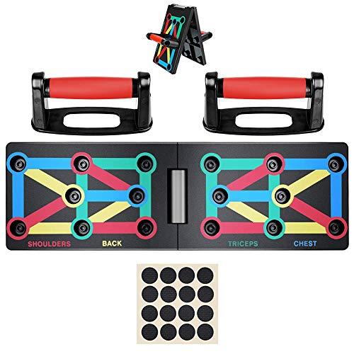 sancuanyi Faltbare Push Up Rack Board 9 in 1 mit 10-40kg Handtrainer|Fitnessger/ät Indoor Arm Training Equipment f/ür Heimtraining Muskeltraining Sport|Bodybuilding /Übungswerkzeuge Home