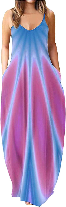Zieglen Womens Dresses Floral Pleated Midi Vest Dresses Sleeveless Casual Summer Beach Sundress Tunic Dresses for Women