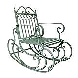 AIMCAE Bancos de jardín Retro al Aire Libre, Mecedora Antigua de Hierro Forjado, sillas de jardín Resistentes de 440 Libras (200 kg), sillones de Patio, Tumbona, Silla para Tomar el Sol,Verde