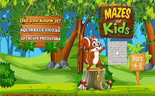 Mazes for kids Ages 4-8: 50 unique animal-based mazes and 50 fun facts your kids will love! Great for improve motor control and build confidence. (English Edition)