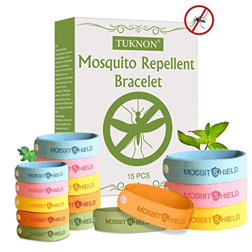 TUKNON Repelentes de Mosquitos, Pulseras Antimosquitos, Pulseras Repelentes de Mosquitos, 15 Piezas...