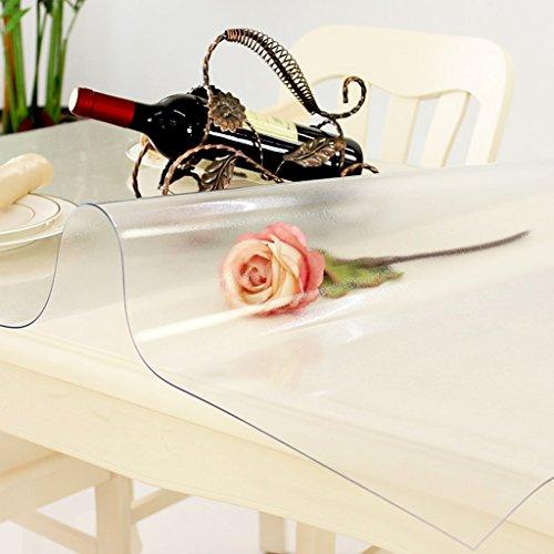 Nappes En Plastique Table Tissu PVC Étanche À L'huile Anti-brûlure Plaque De Cristal Doux Verre Givré Protection de L'environnement 1.5mm Épais (taille : 80×135cm)