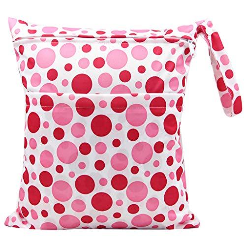 karrychen 30x36cm Fashion Print Baby Diaper Storage Bag Reusable Waterproof Nappy Pouch- 6#