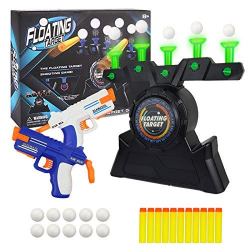 Trsmima Glow in The Dark Shooting Games Kit-Target Practice Toys,Floating Ball Shooting Game for Kids with 2 Foam Dart Guns, 10 Foam Balls &10 Darts, Toys for Kids Boys Girls