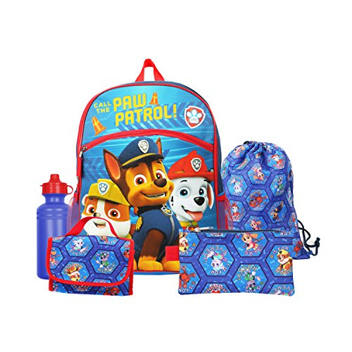Nickelodeon Paw Patrol Boys Blue 16' Backpack Back to School Essentials Set