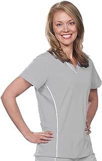 BOGO Sale-V-Neck Nursing, Medical, Women's Stretch Scrub Top with White Piping