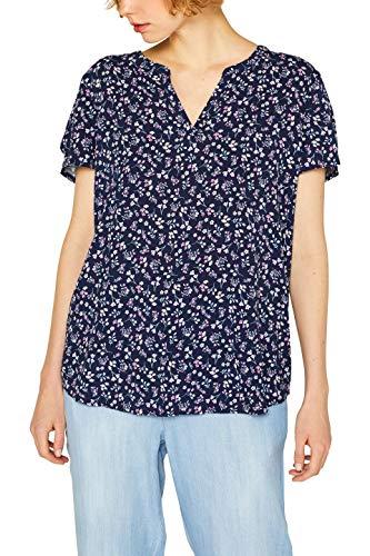 ESPRIT Damen 049EE1F026 Bluse, Blau (Navy 400), (Herstellergröße: 38)