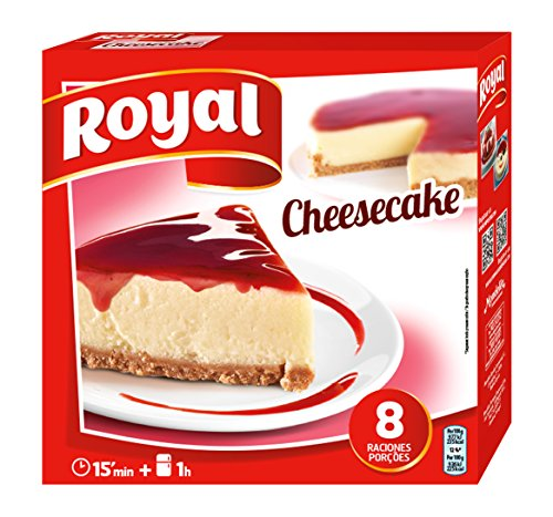 Royal Cheesecake Tarta de Queso con Cobertura de Fresa, sin Horno - 8 Raciones, 325 g