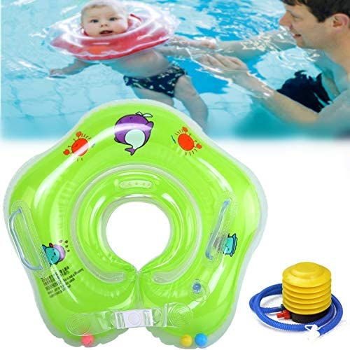 Baby Infant Inflatable Neck Float Ring Inflatable Infant Floating Kids Swim Pool Accessories product image