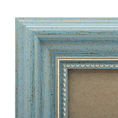 4x4 Picture Frame Antique Teal - Mount Desktop Display, Instagram Prints Frames by EcoHome