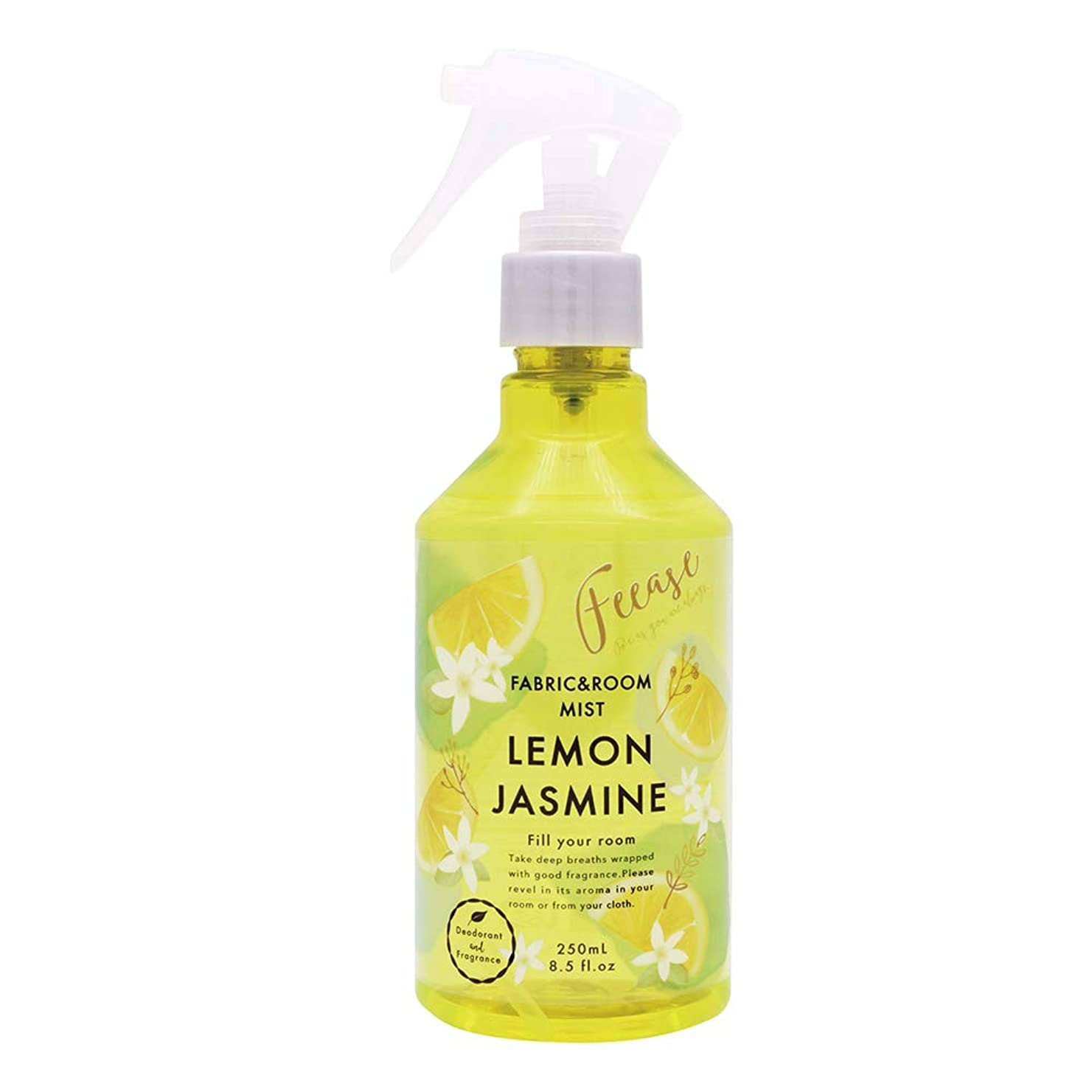 戸棚ペナルティ申請中ノルコーポレーション ルーム&ファブリックミスト フィース 消臭成分配合 レモンジャスミンの香り 250ml OA-FEE-1-3