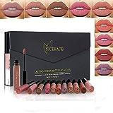 Rechoo 12 Pcs Matte Lippenstifte Wasserfest Langlebig Supterstay Liquid Lipstick Lipgloss Set