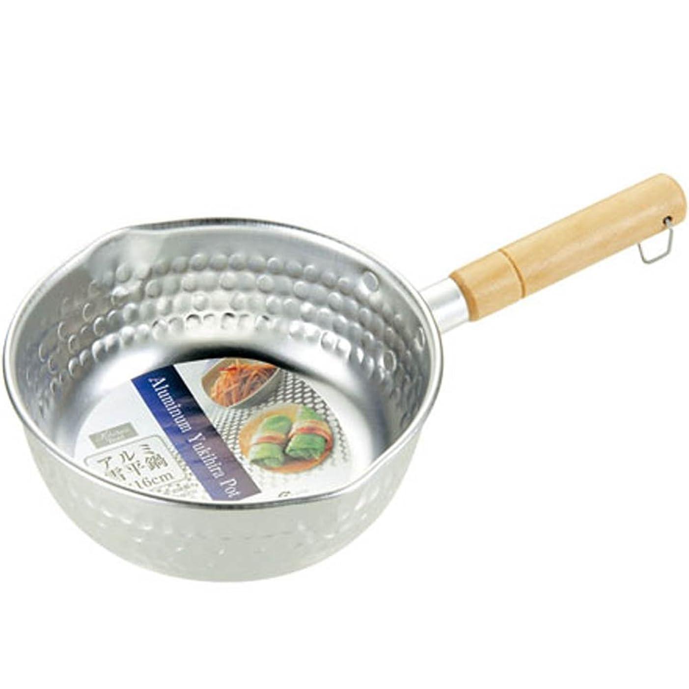 引き付ける皮対応するエコー金属 アルミ雪平鍋16cm 0399-500