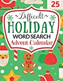 Difficult Holiday Word Search: Advent Calendar for Adults & Teens with 24 Christmas Word Find Puzzles