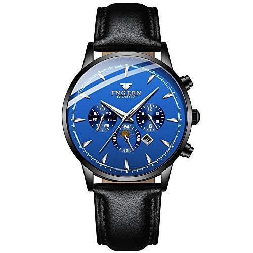 Reloj de Pulsera mecánico para Hombre, Correa automática con Esfera de aleación de Acero, Reloj de Pulsera mecánico para Hombre-D