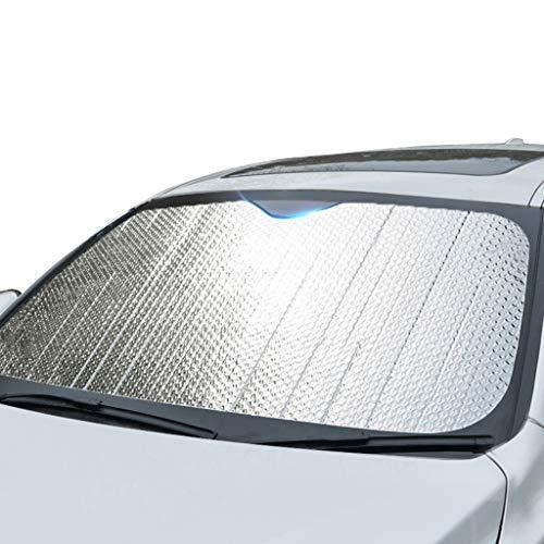 Sombra De Coches Sun Shade, Plata De Aluminio De Plata Aislamiento De Calor Sun Visor Windshield Instale Quick Instale Sunshield Se Adapta A Los Parabrisas De Varios Tamaños(Size:140*70CM)