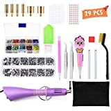 DIY Rhinestone Tools - houmi Hot fix Rhinestone Setter Applicator Wand Tool Kit Set with 7...