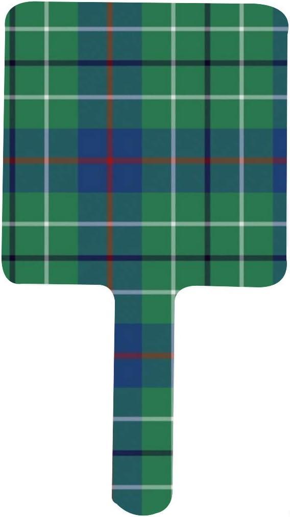 Small Duncan Tartan Max 58% OFF Portable Square Handle Mirror Makeup Max 53% OFF