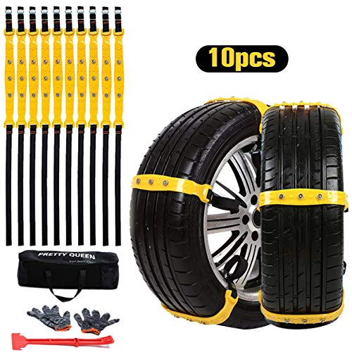 SuBleer Snow Chains for Car Tires, Tire Blocks for...