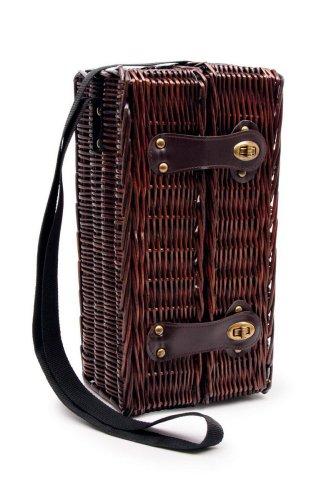Small Foot Company picknickmand wijngenot van hout, bruin,