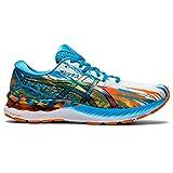 Asics gel-nimbus 23, road running shoe hombre, digital aqua/marigold orange, 44. 5 eu