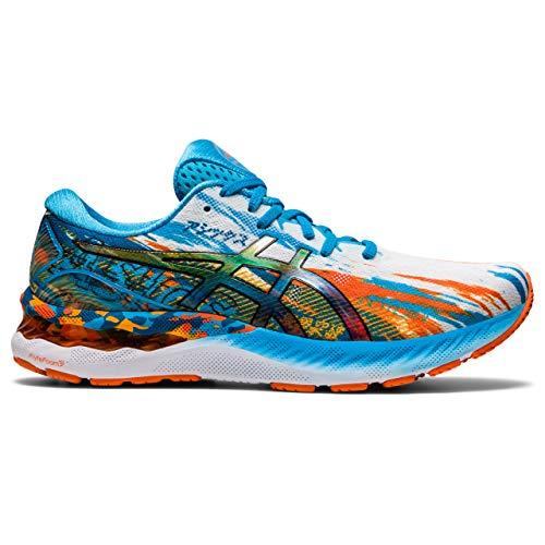 Asics Gel-Nimbus 23, Road Running Shoe Hombre, Digital Aqua/Marigold Orange, 45 EU