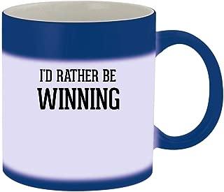 I'd Rather Be WINNING - 11oz Ceramic Blue Color Changing Mug, Blue