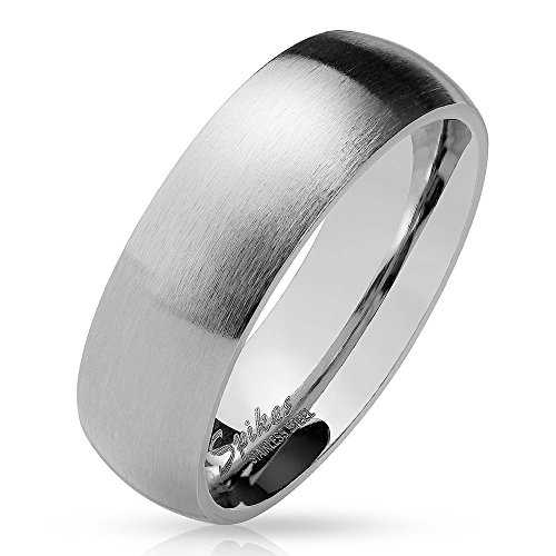 Bungsa 67 (21.3) silberner Ring für Damen & Herren - Silber - Damenring aus Edelstahl matt - edler Edelstahlring geeignet als Verlobungsringe, Freundschaftsringe & Partnerringe