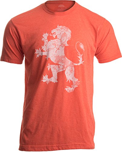 Dutch Pride | Vintage Style, Retro-Feel Netherlands Lion & Flag Unisex T-Shirt-Adult,XL Heathered Orange